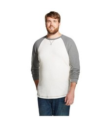 Mossimo Men's Big & Tall Long Sleeve Thermal T-Shirt - White Feather - XXL