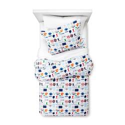 Circo And Trade Sports Zone Flannel Duvet Cover - Multicolor - Size: Twin