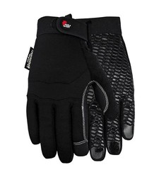 MidWest Unisex Silicone Pattern Gardening Gloves - Black - Sz: Large