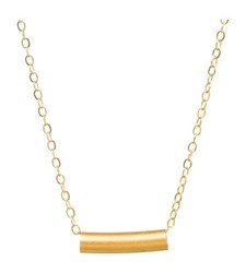 """Venice & Violet By Dogeared Women's 18"""" Tube Necklace - Gold"""