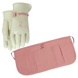 HOPE Women's Leather Glove & Cotton Waist Apron - Medium