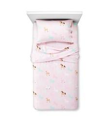 Circo Horse Flannel Sheet Set - Pink - Size: Full