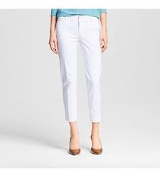 Merona Women's Bi-Stretch Modern Ankle Pant - Fresh White - Size:6