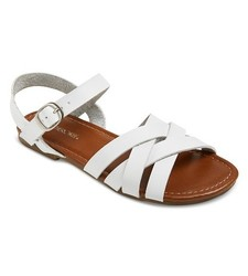 Cherokee Girls' Rose Slide Sandals - White - Size: 1