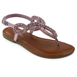 Cherokee Girls' Florence Thong Sandals - Pink - Size: 4