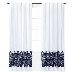 "Sabrina Soto 54""x84"" Elena Curtain Panel - Navy"