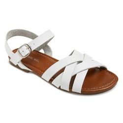Cherokee Girls' Rose Slide Sandals - White - Size: 5