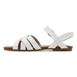 Cherokee Girls' Rose Slide Sandals - White - Size: 4