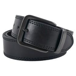 Merona Men's Nickel-plated Buckle Leather Belt - Black - Size: XXL