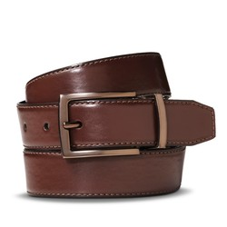 Merona Men's Reversible Feather Edge Belt - Black/Brown - Size: XXL