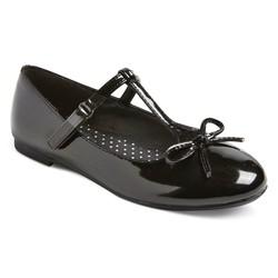 Cat & Jack Girls' Bettie Patent T-Strap Ballet Flats - Black - Size: 5
