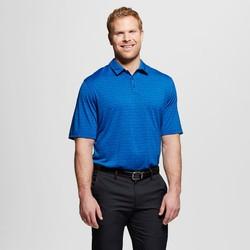 C9 Champion Men's Activewear Stripe Polo Shirt -Heather Blue -Size: Medium