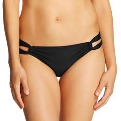 Xhilaration Women's Tab Side Bikini Bottom - Black - Size: Medium