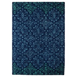 Threshold 2'x3' Floral Medallion Accent Rug - Blue