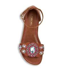 Cherokee Girls' Harriet Beaded Sandals - Pink - Size: 3