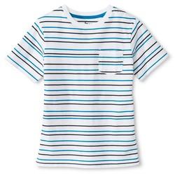 Circo Boy's UV Calibrated Stripe T-Shirt - White - Size: Medium