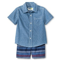 Genuine Kids Baby Boys' Top And Bottom Set - Metallic Blue - Size: 5T