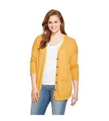 Mossimo Women's Plus Size Boyfriend Cardigan - Mineral Yellow - Size: 4X