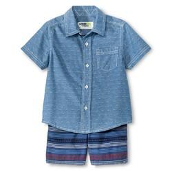 Genuine Kids Boys' Top And Bottom Set - Metallic Blue - Size: 18M