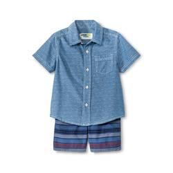 OshKosh Genuine Kids Boys' Top And Bottom Set - Metallic Blue - Size: 3T