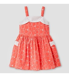 Genuine Kids from Oshkosh Toddler Girls' Scallop Neck Dress - Coral - 2T
