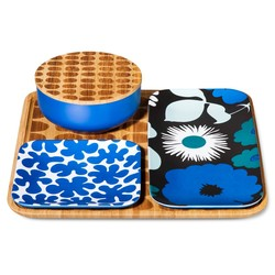 Marimekko Bamboo Serving Set - 4Pc - Blue