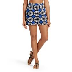 Marimekko Women's Appelsiini Print Shorts - Blue - Size: Medium