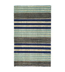 "Threshold Cool Stripe Outdoor Doormat - Blue - Size: 23""x35"""