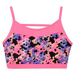 Freestyle by Danskin Girls' Honeycomb Sport Bra - Multi-Colored - Size: XS