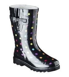Molly Girl's Mid calf Rain Boot - Black - Size: 3