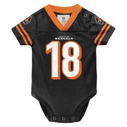 NFL Baby Cincinnati Bengals Jersey Bodysuit - Black/Orange - Size: 6-9mos