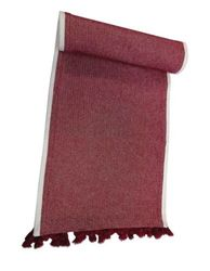 "Threshold 14"" X 72"" Woven Table Runner with Tassels - Red"
