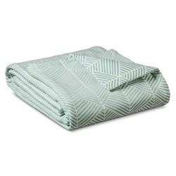 Threshold Fashion Woven Pattern Blanket - White/Turquoise - Size: King