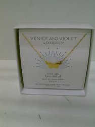 Women's Venice and Violet Simple Butterfly Necklace Plated in 14K Gold