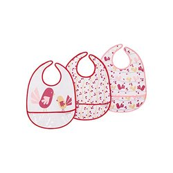 JJ Cole Bib Set, Pink Chickadee