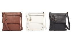 Zip-Flap Messenger Bag: Coffee