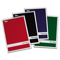 "Tops Spiral White Paper Steno Books Gregg Rule 4 Books/Pack - Size: 6""x9"""