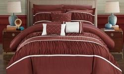 10-piece Penelope Bed In A Bag Comforter Set: King/brick