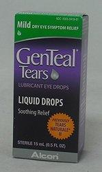 GenTeal Tears Lubricant Eye Drops Liquid Drops Mild 5.00 x, 0.5 oz