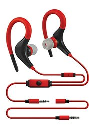 Sentry Sport Series Premium Wrap Around Buds with In-Line Mic - Red