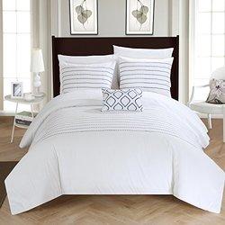 Chic Home Skylar Duvet Cover Set: White/king (4-piece)