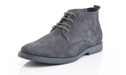 Adolfo Men's Leather Suede Chukka Boots Morris-1 Grey - Size: 11.5