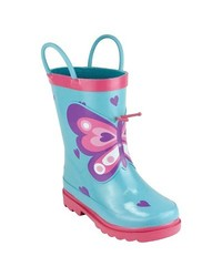 Kid's Gardening Boots Butterfly - Multi - Size: Small