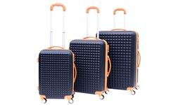 Rivolite Paris Hardside Spinner Luggage Set 3PCs - Blue