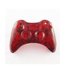 GamerModz Clear Zombie Custom Controller Shell for XBOX 360 - Red