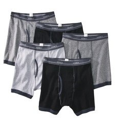 Hanes 5 Pack Men's Ringer Boxer Brief Underwear - Assorted - Size: Small