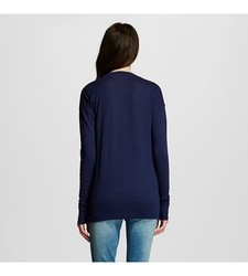 Mossimo Supply Women's Long Sleeves Boyfriend Cardigan - Navy - Size: XL