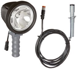 6 Million Candlepower Spotlight with Handle 16 foot - Black/Grey
