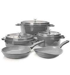 Cook's Companion Die Cast Aluminum Ceramic Nonstick 8 Piece Cookware Set