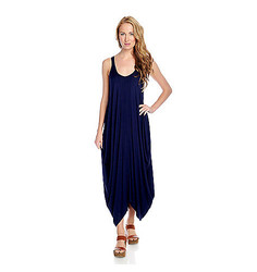 Indigo Thread Women's Knit Scoop Neck Sharkbite Dress - Navy - Size: M